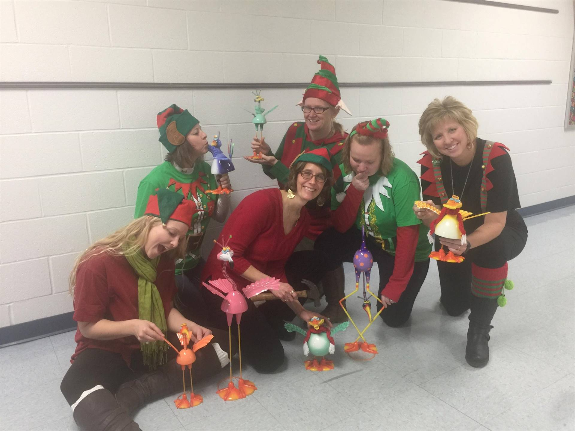 What are these elves up to...(5th gr teachers)