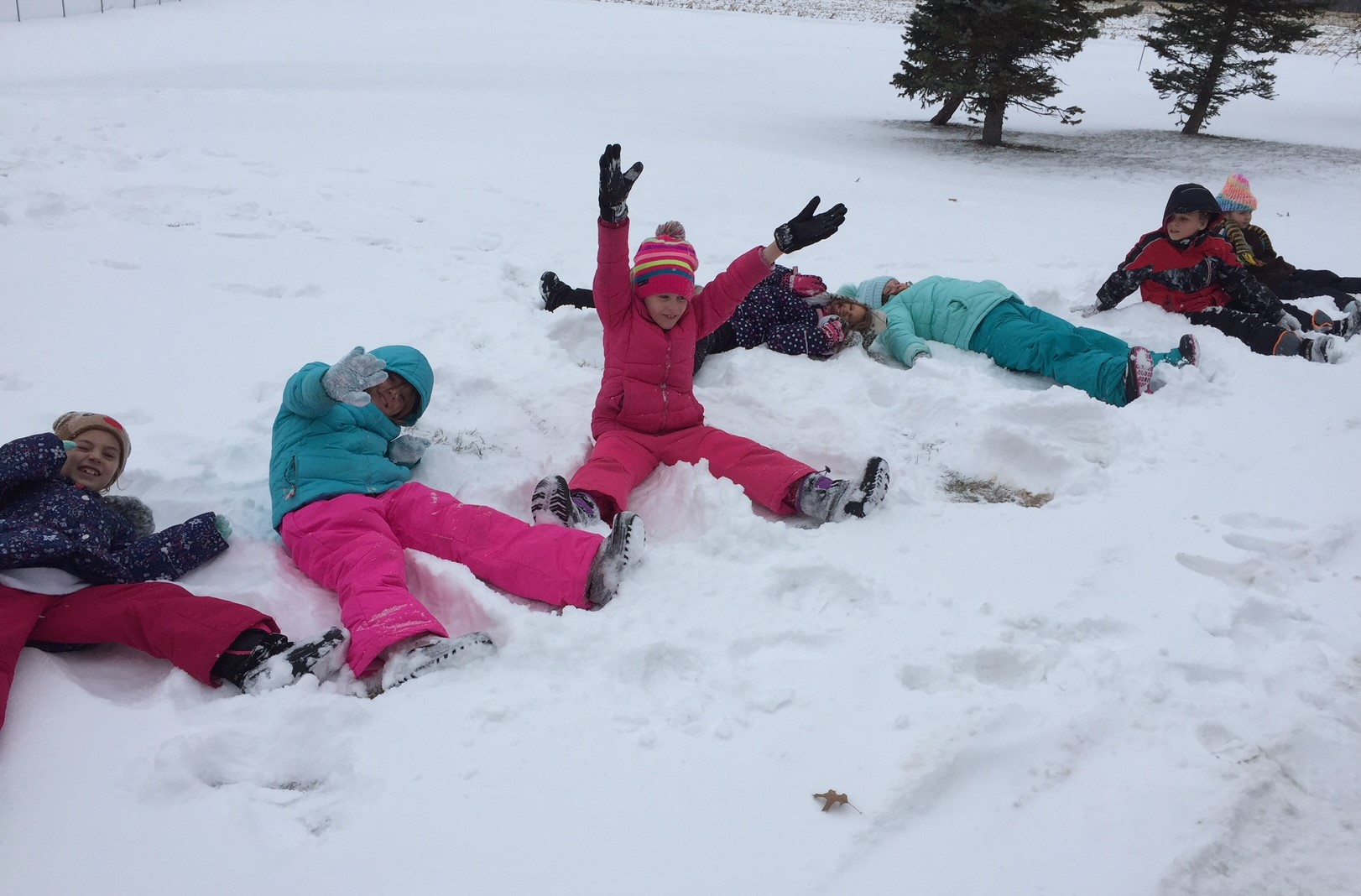 Kids love snow!!