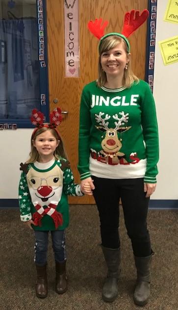 Mrs. Jackson (3rd grade teacher)  & her daughter Emily