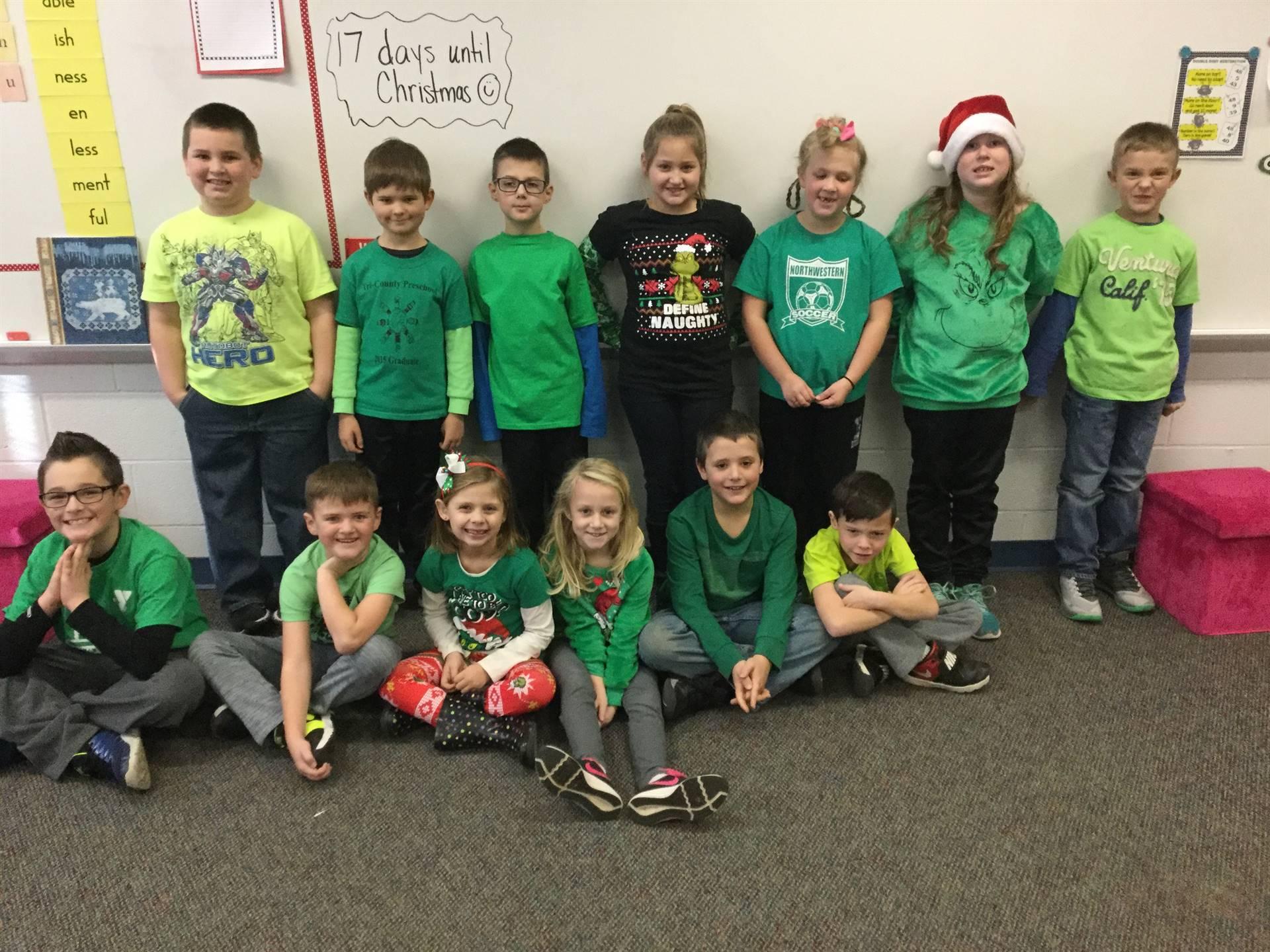 Miss Miller's Class  - Grinch Day