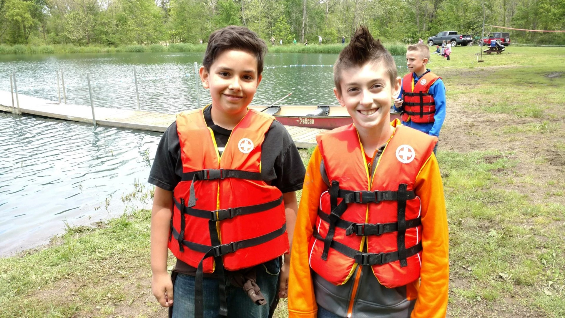 Outdoor Ed-getting ready to canoe!