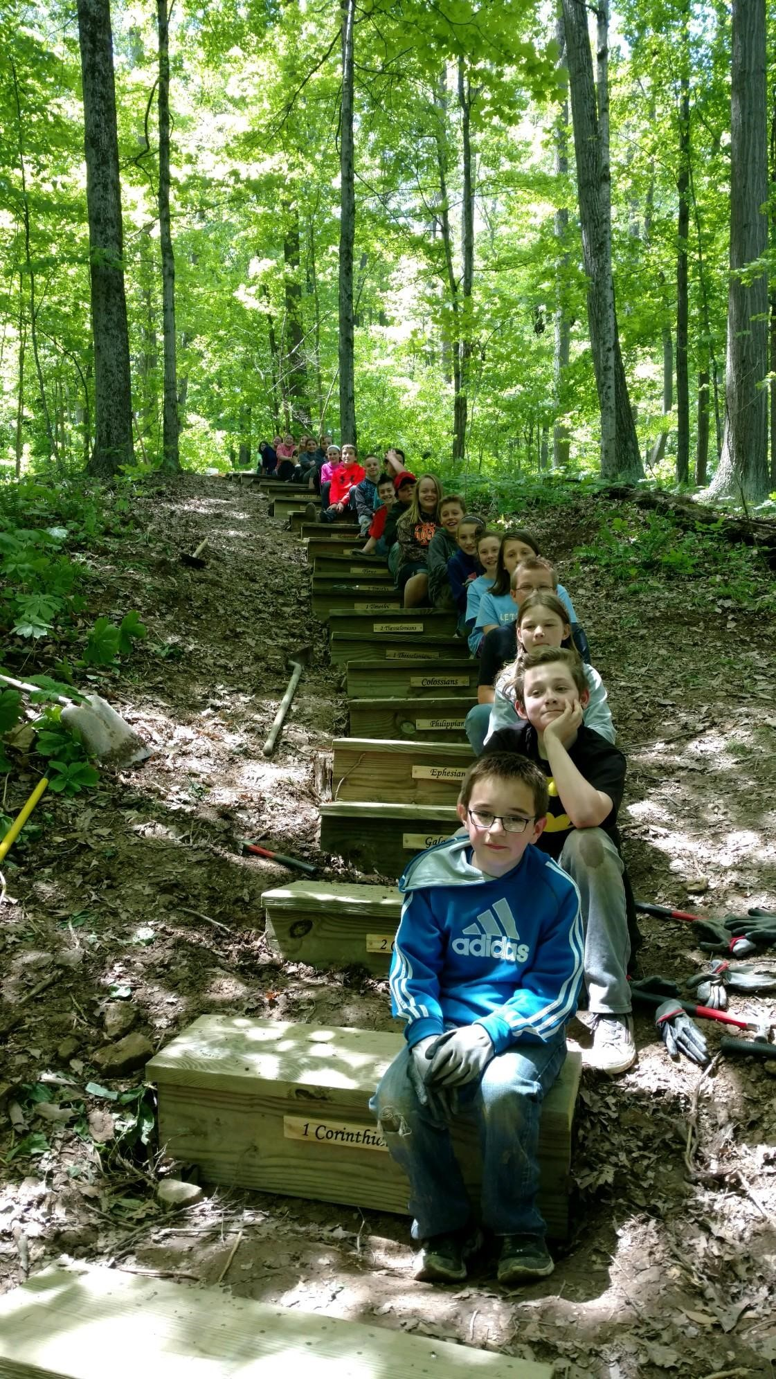 5th grade - great job on the steps!