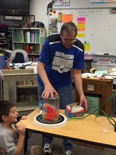 Former Science teacher, Mr. Beck, taught about air pressure!