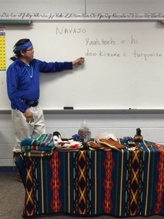 Navajo Indian, Mr. Butler, discussed the history of his tribe.