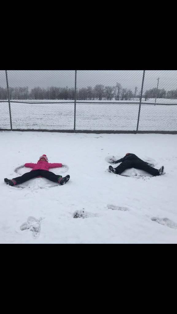 snow fun at recess