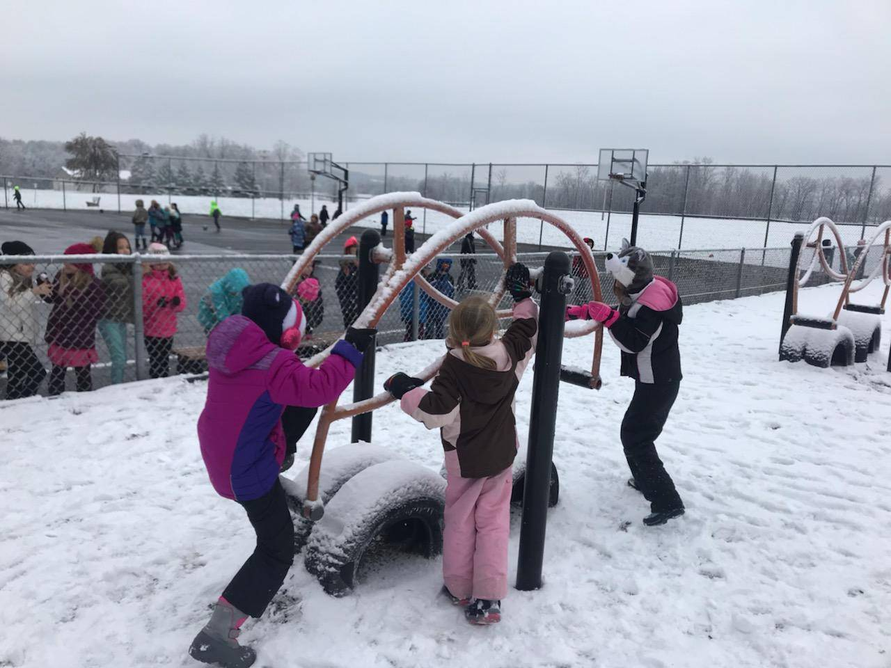 Recess fun in the snow!