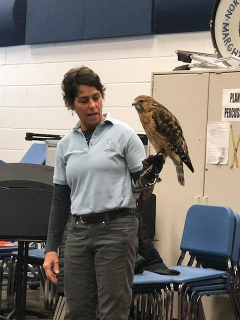 5th Gr got to experience Birds of Prey