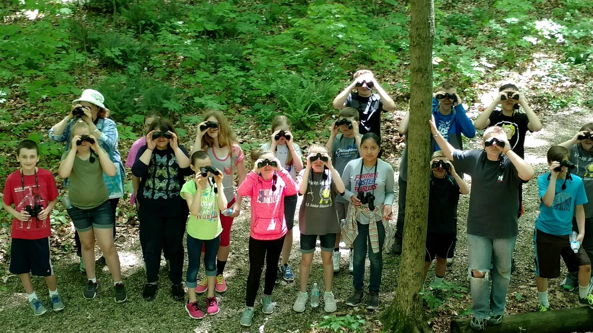 5th gr bird watching with Mrs. Lang!