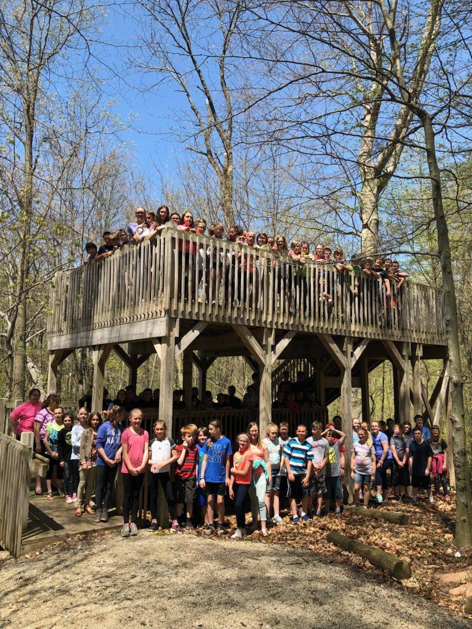 5th grade on the observation deck