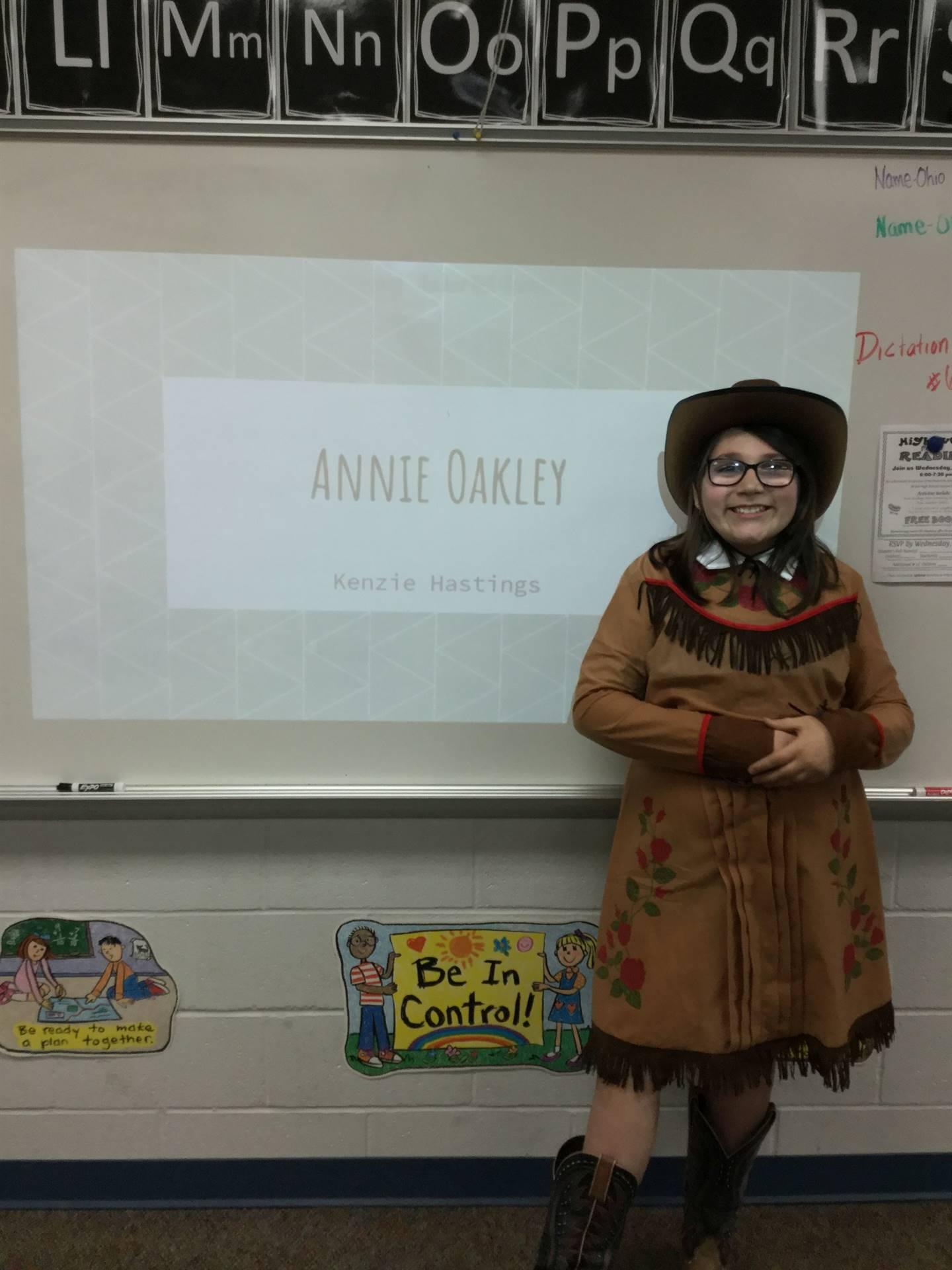Kenzie is Annie Oakley