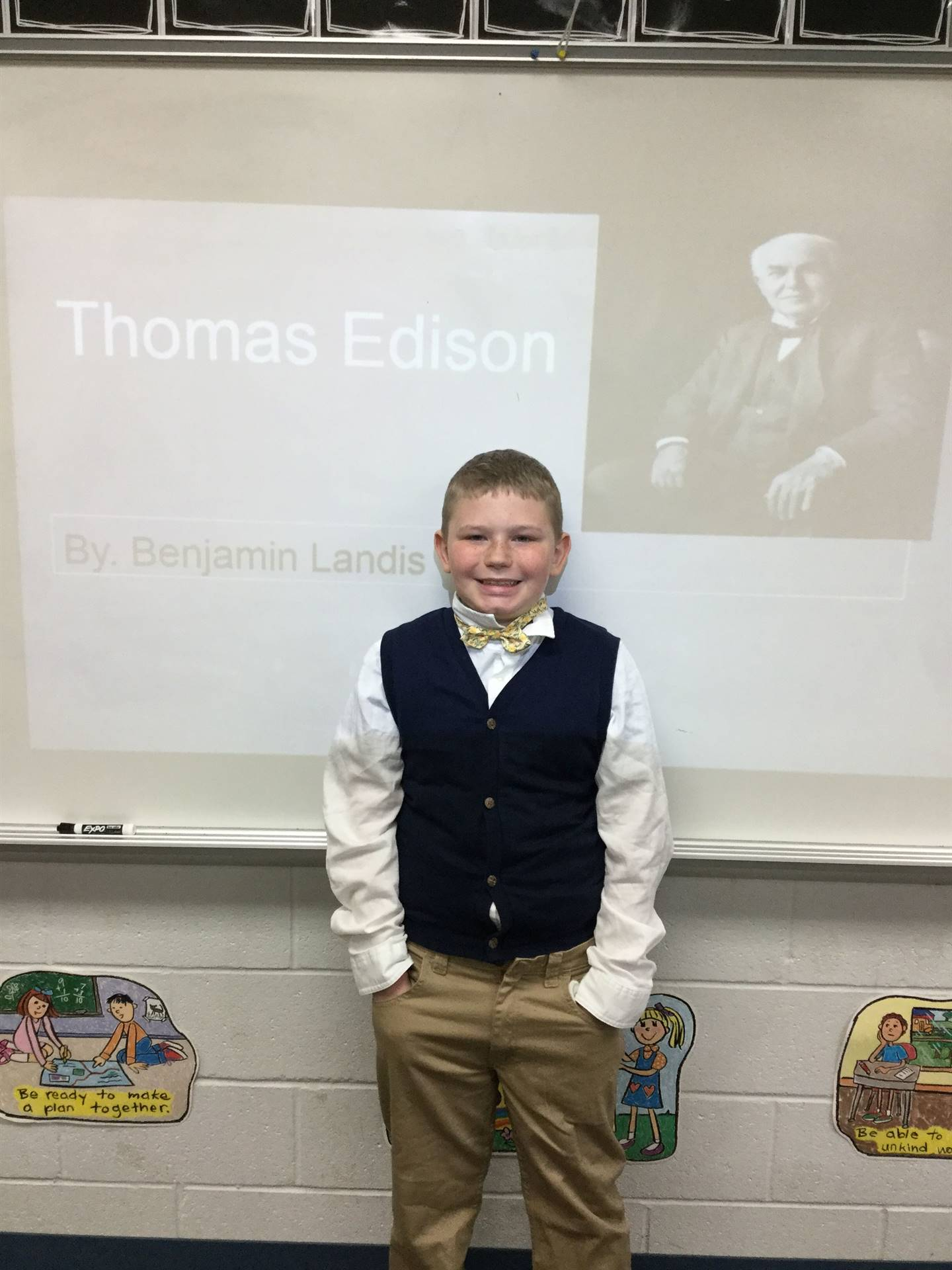 We learned about Ohioan Thomas Edison.  Thank you Ben!