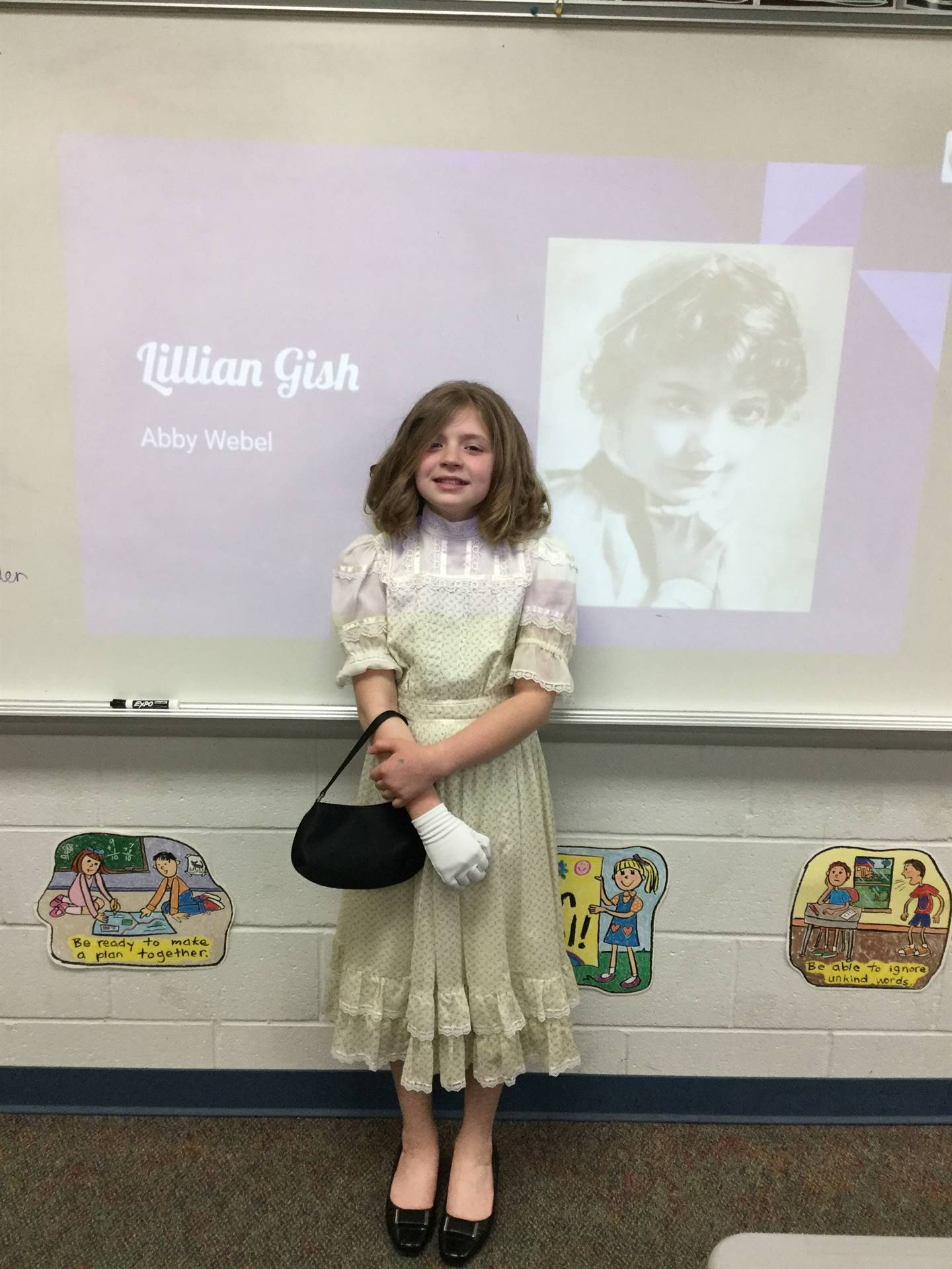 Abby taught us all about Ohioan Lillian Gish!