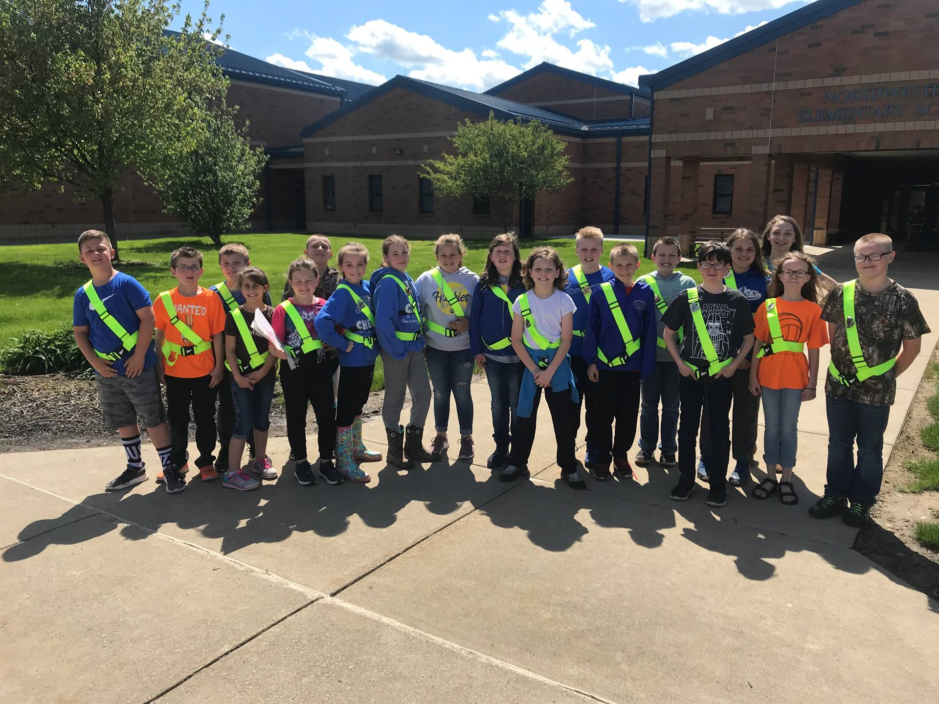 Our awesome Safety Patrol!