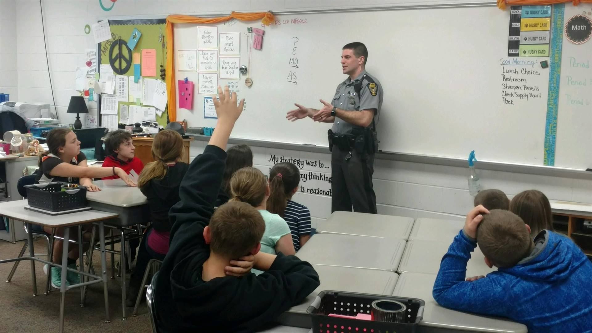 Learning a lot from Trooper Custer!