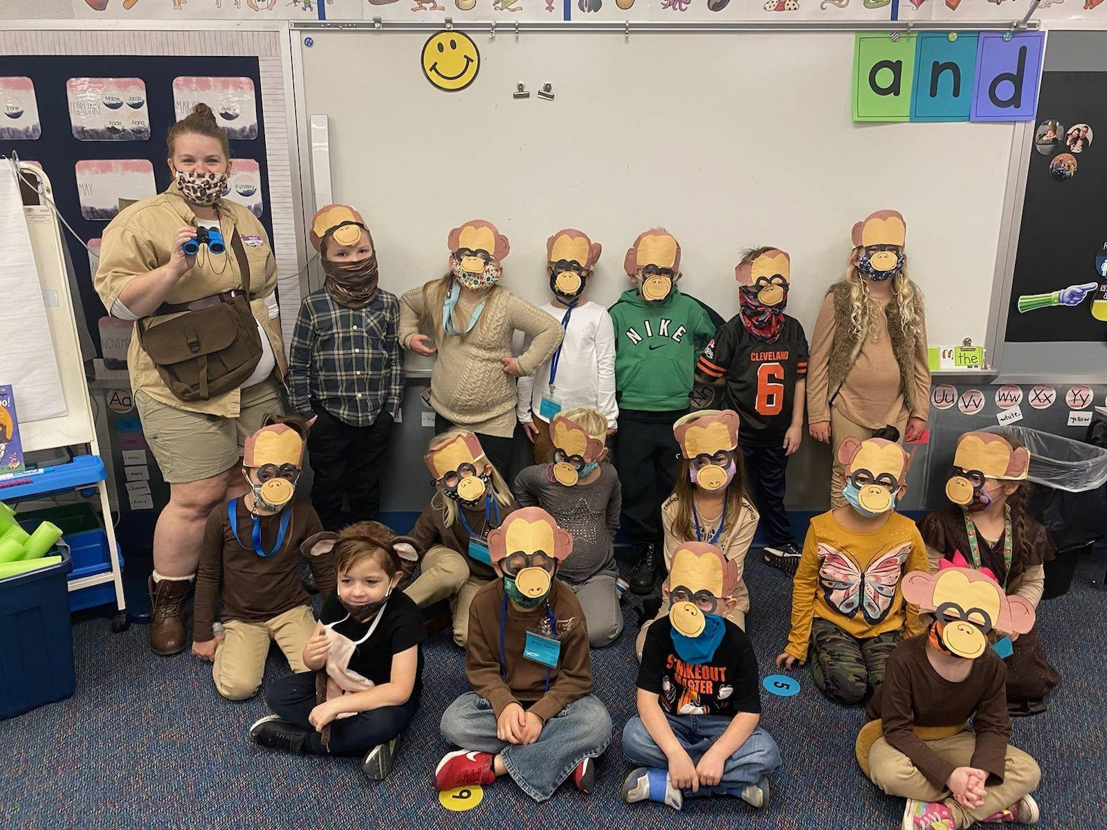 Mrs. Tiano's monkeys!