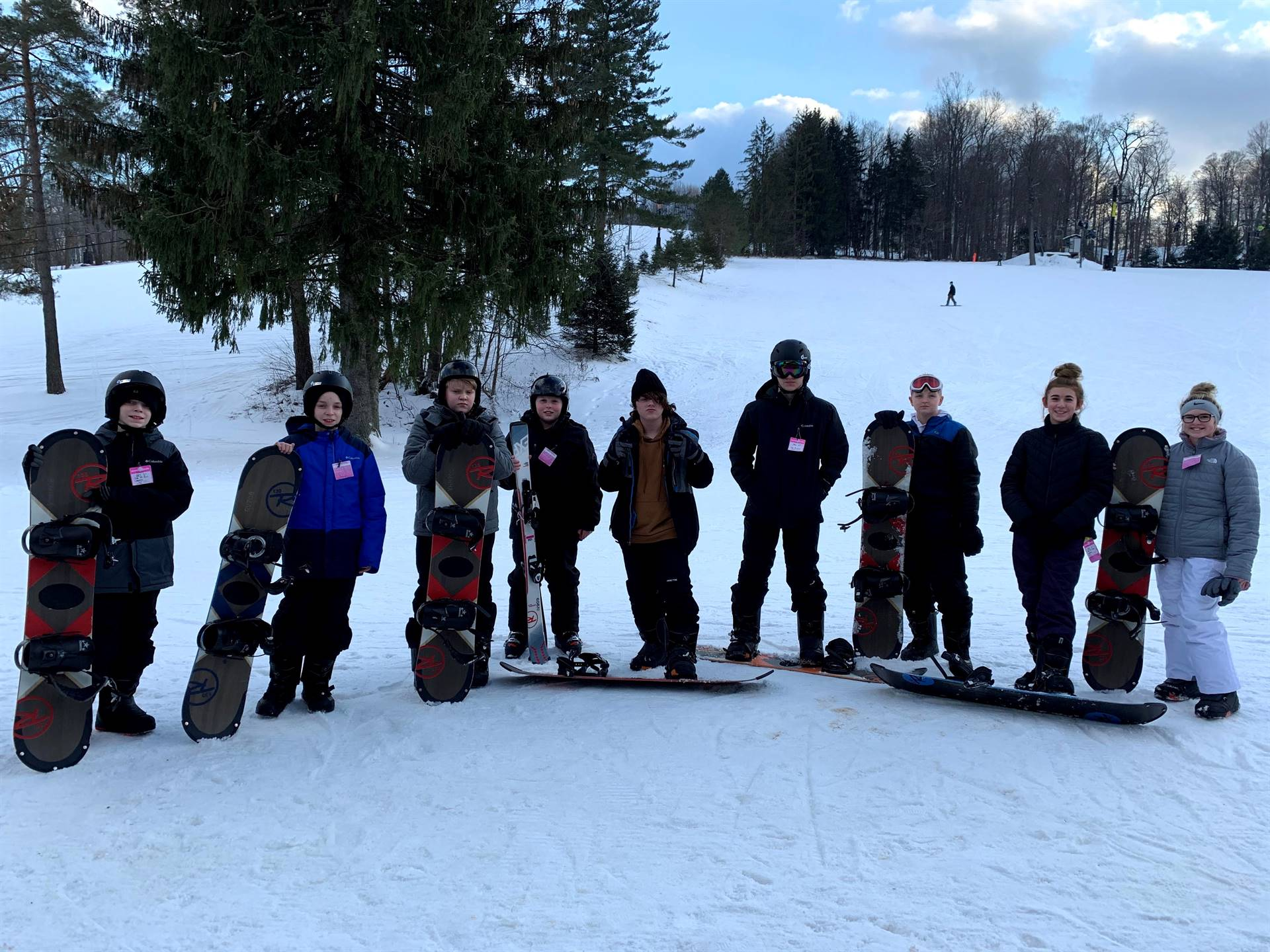 Ski Club and Bad Dog Boarders
