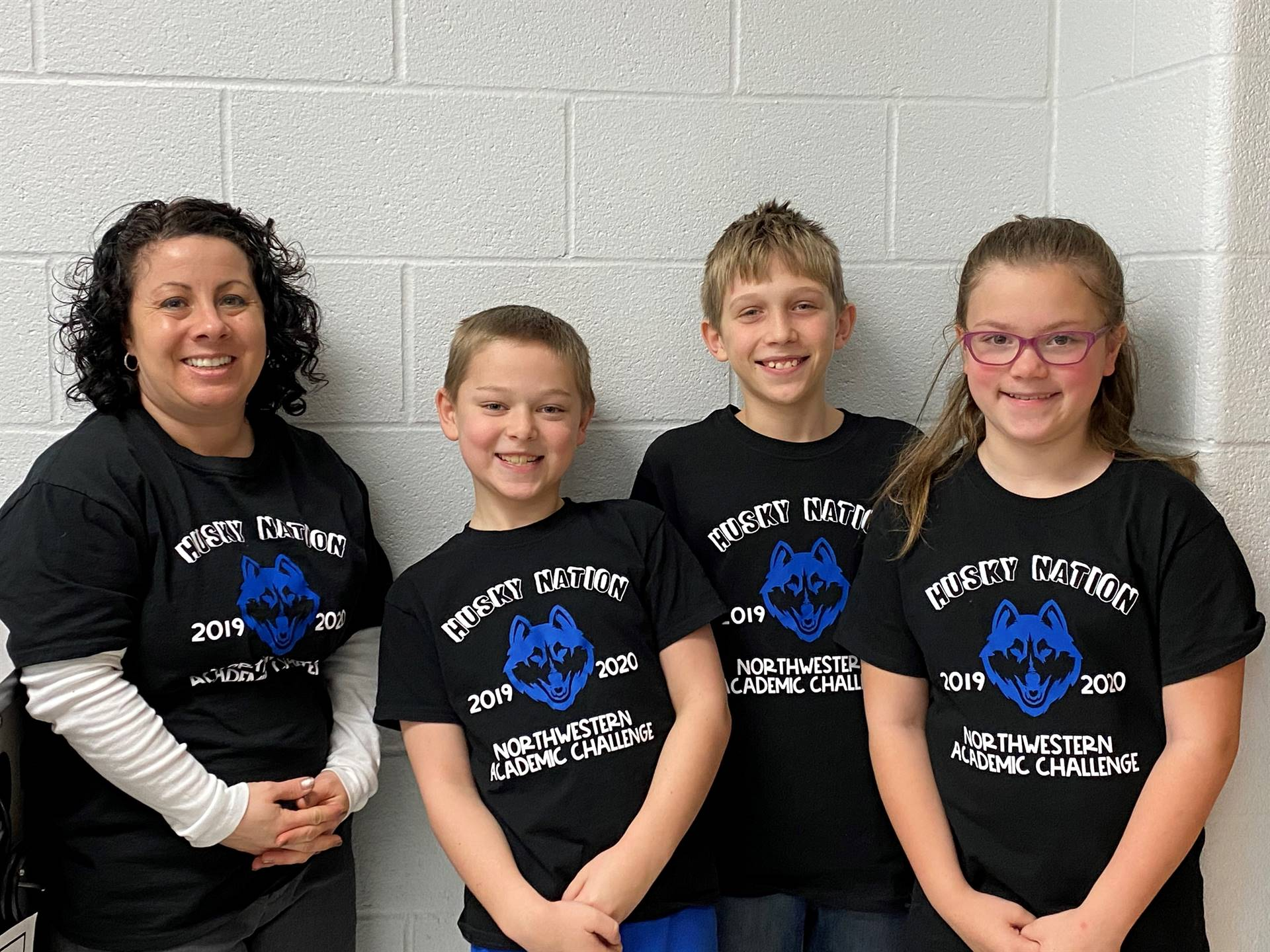 Our 4th Grade Academic Challenge Team with Mrs. Harbaugh