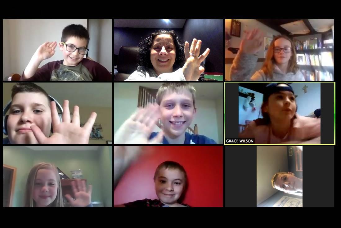 TAG students virtual Acad Challenge