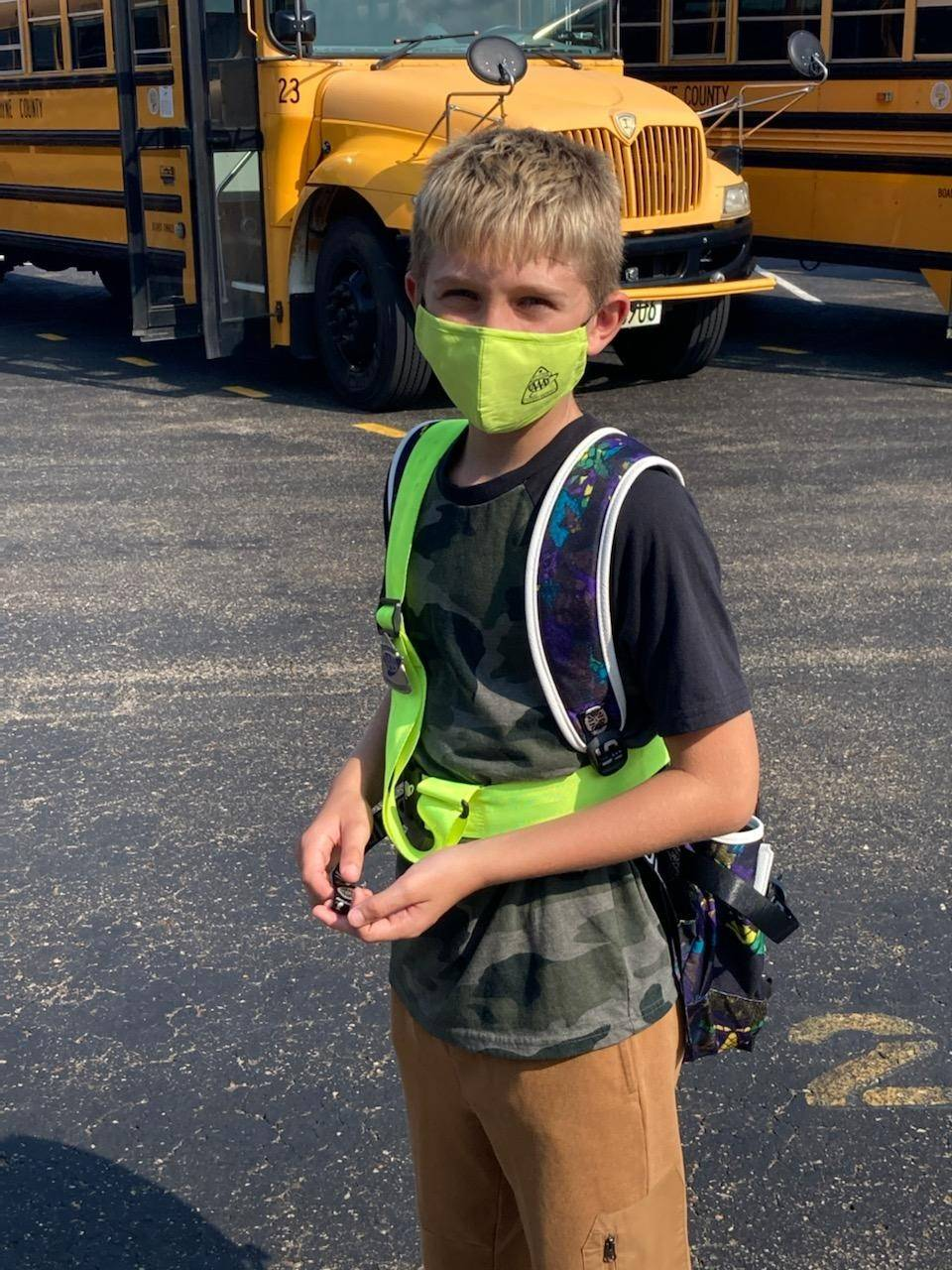 AAA provided face masks for Safety Patrol
