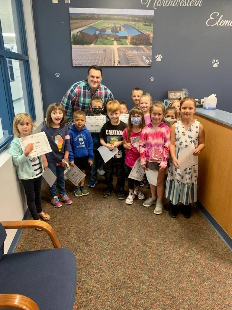 First grade Brag Tag recipients-Congrats!