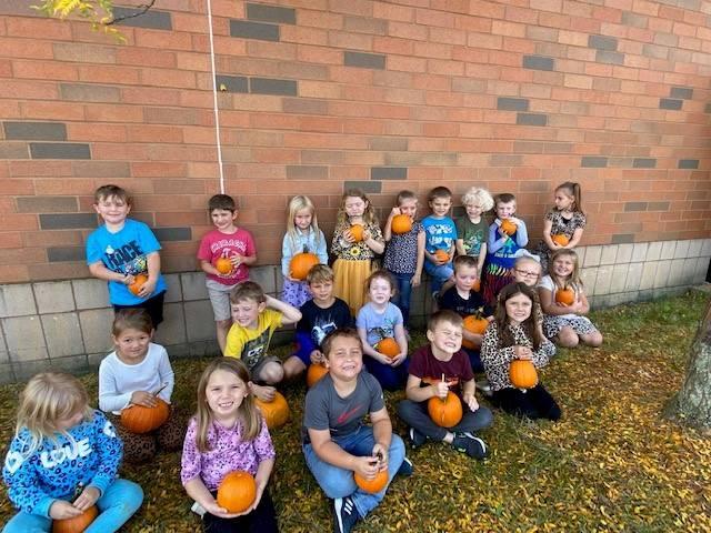 Kindergarten went to the pumpkin patch!