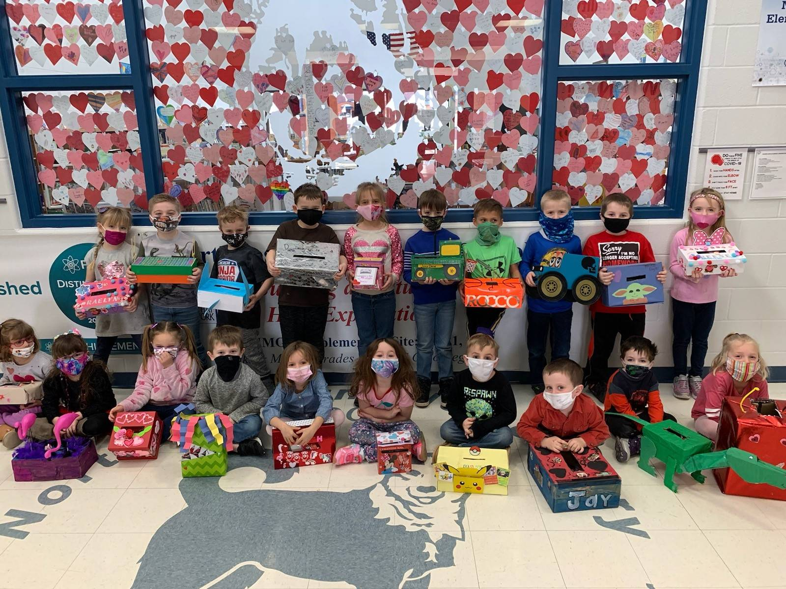 Happy Valentine's Day fr Mr. Kline's kindergarten class!