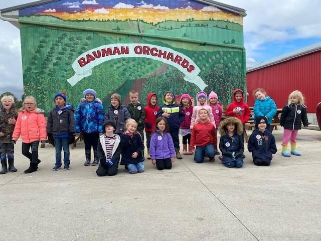 We had fun getting apples!